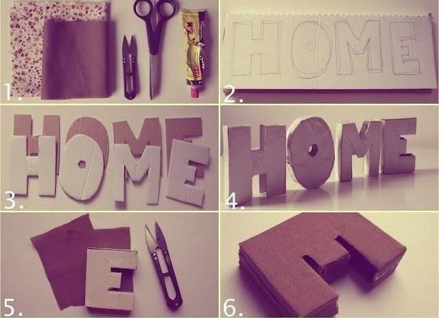 DIY: Stojące litery 3d - ozdoba do pokoju