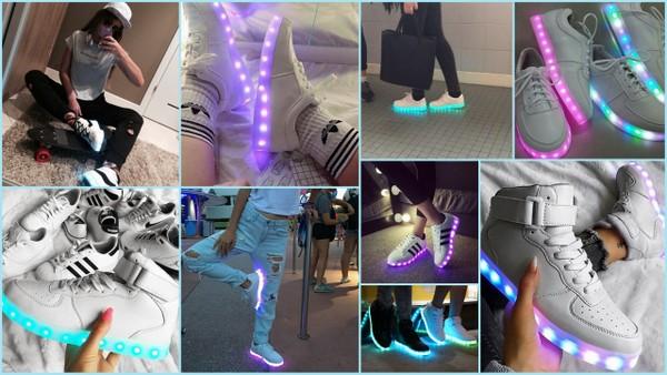 Z czym połączyć buty LED?