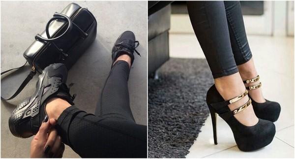 Z czym połączyć czarne legginsy?