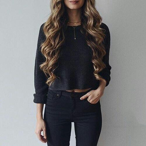 Stylizacja total black look