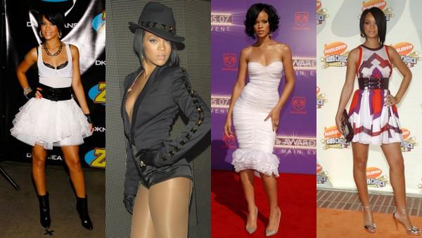 Ewolucja stylu Rihanny