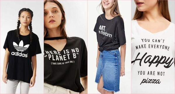 t-shirty z nadrukami