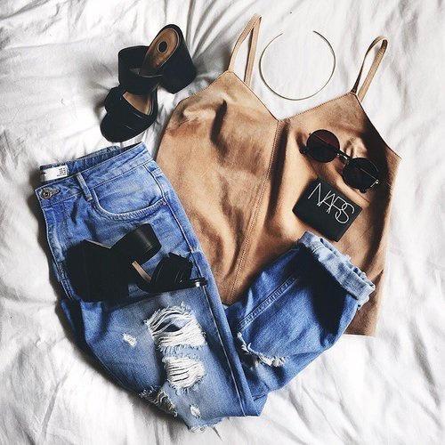 Stylizacje z mom jeans