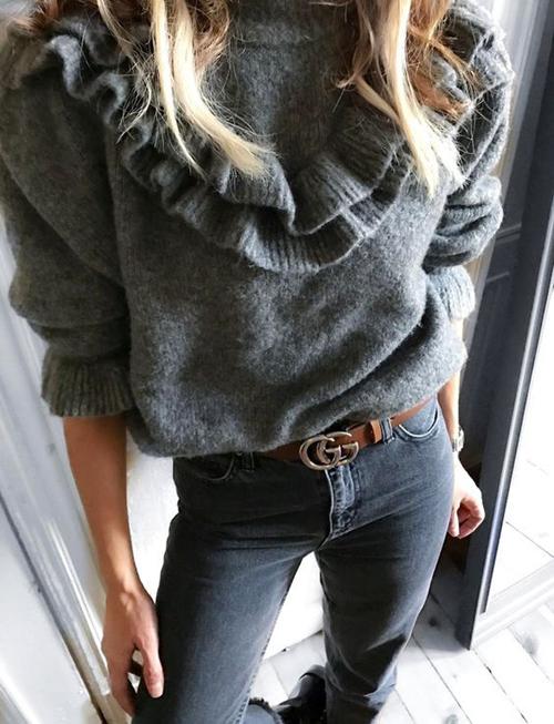 Stylizacje z zimowymi sweterkami