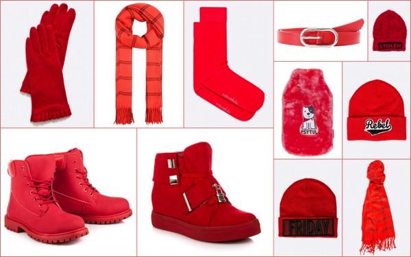 Czerwone ciuchy na zimę