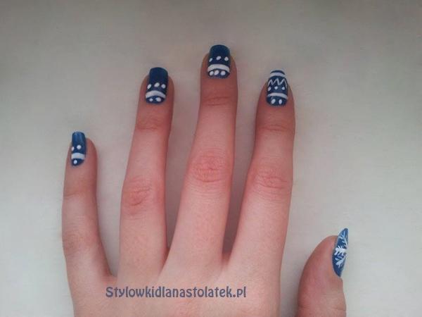 Jak zrobić paznokcie śnieżynki krok po kroku