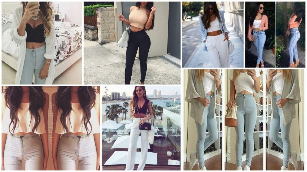 spodnie z wysokim stanem stylizacje