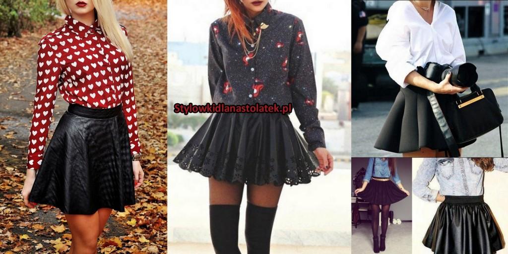 Czarna spódnica stylizacje