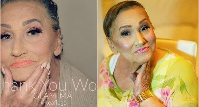 Hit Internetu: Makijaż totalnie odmienił 80-latkę!
