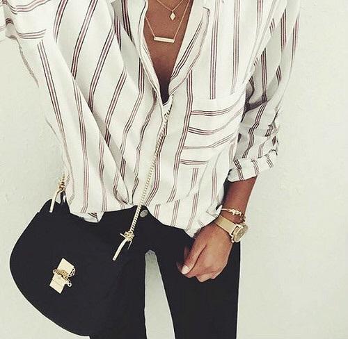 Koszula w paski - stylizacja