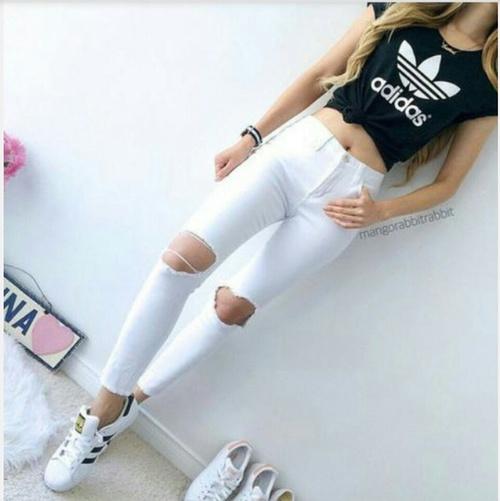 Letnia stylizacja z Adidas Superstar