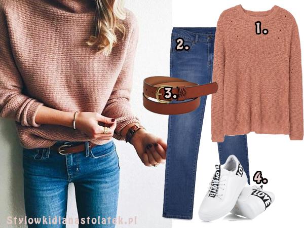 Stylizacja ze swetrem