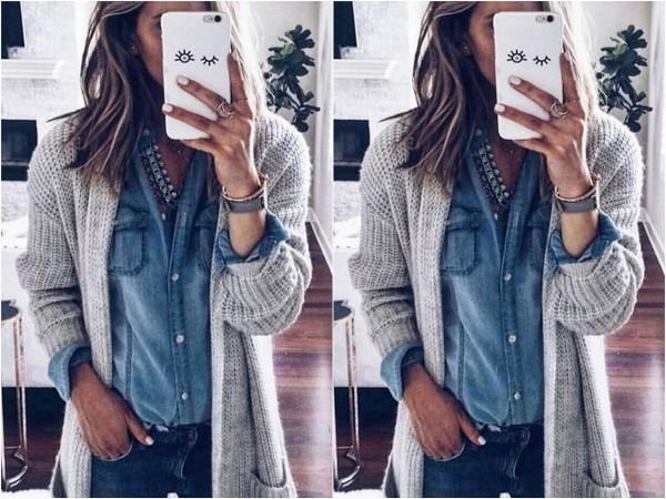 Stylizacje z jeansową koszulą | DlaNastolatek.pl