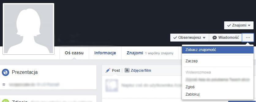 ukryte opcje na facebooku