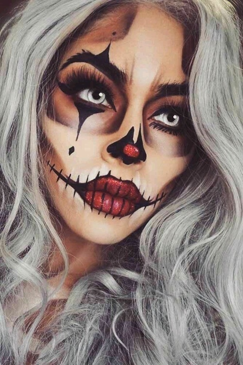 halloweenowy make up