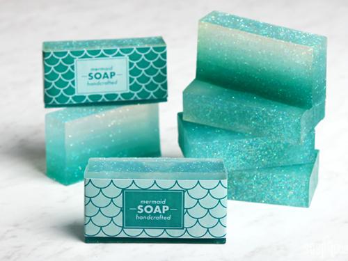 Domowe mydełka ombre