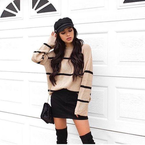 stylizacje ze swetrem oversize