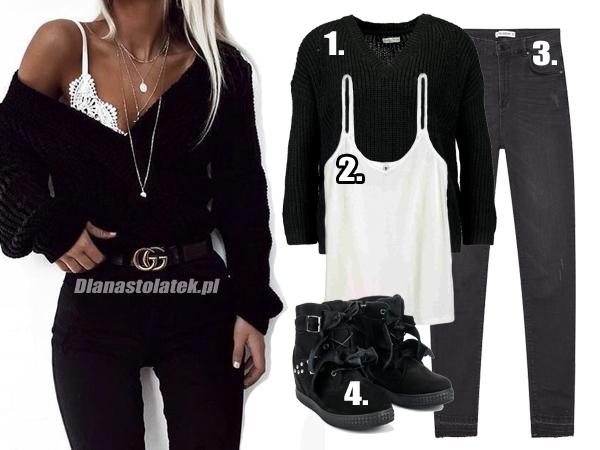 Czarno-biała stylizacja