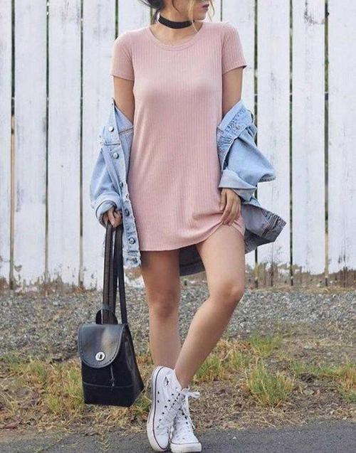 stylówki z sukienką