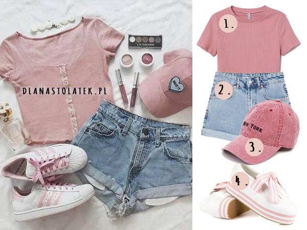 Różowa stylówka na lato