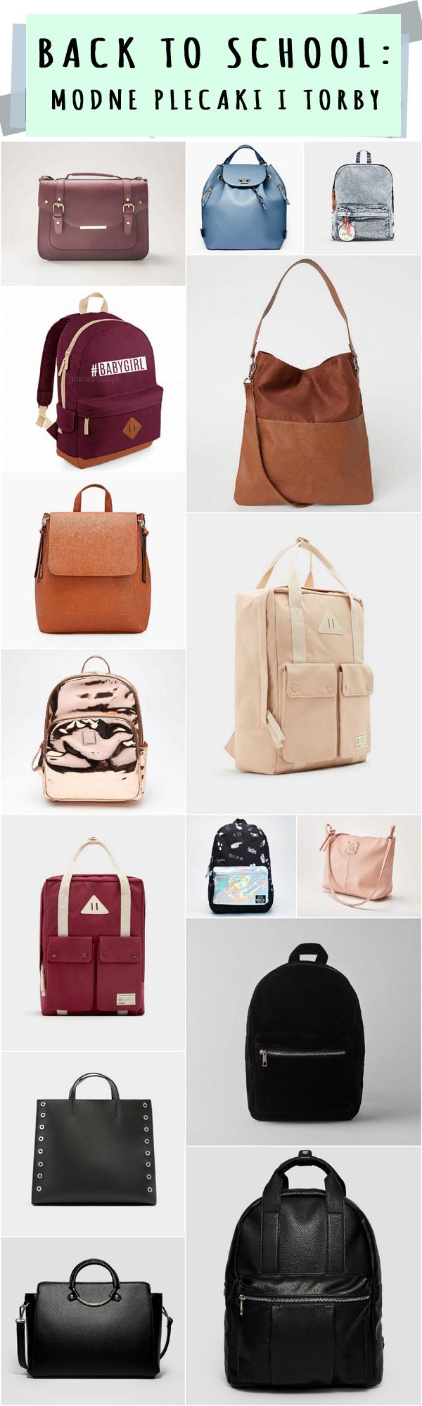 Modne plecaki i torby