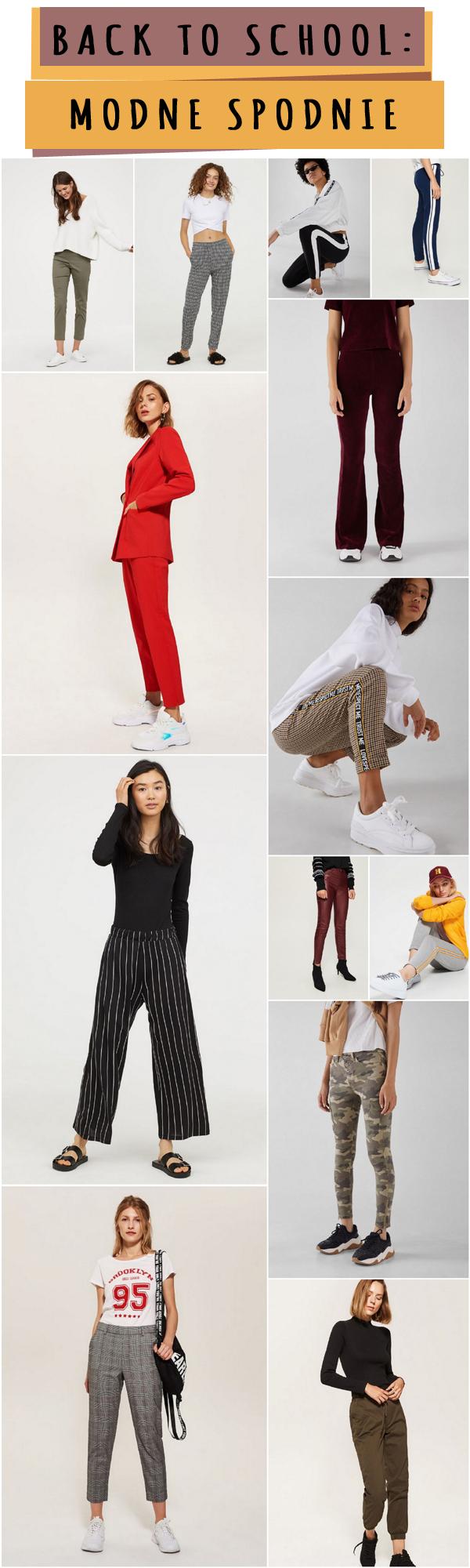 Modne spodnie