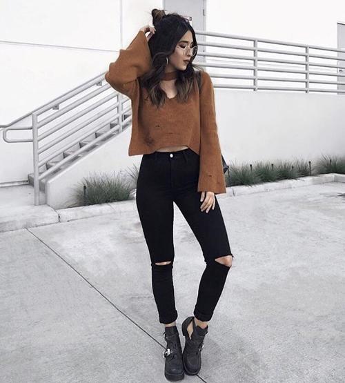 stylizacje z czarnymi spodniami