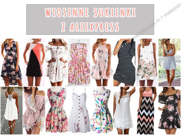 Wiosenne sukienki z AliExpress