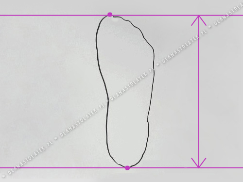 Jak zmierzyć długość stopy