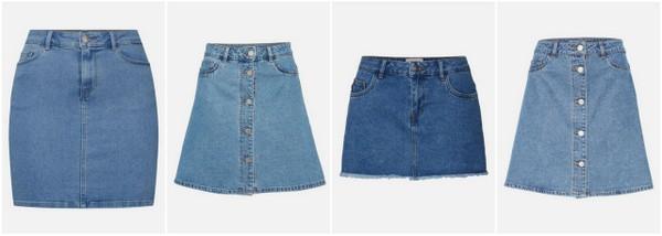 jeansowe spódnice