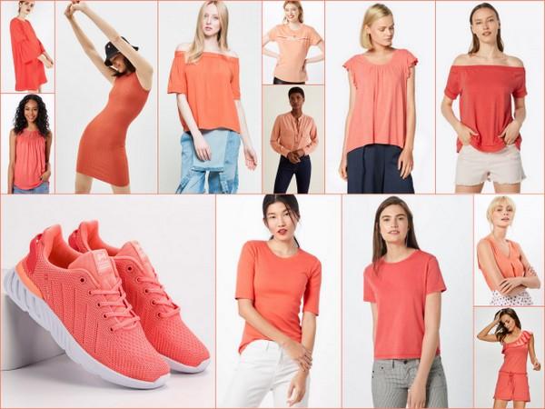 Ubrania na wiosnę w kolorze koralowym
