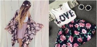 Ubrania w kwiaty