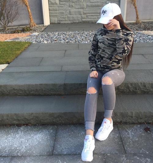 Stylizacje z butami marki Reebok