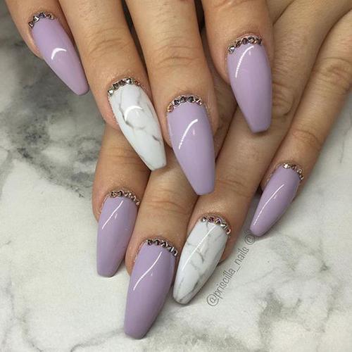 pomysły na fioletowe paznokcie