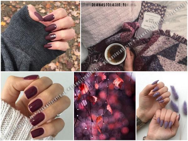 kolory paznokci na jesień