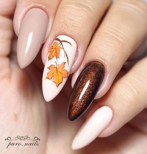 jesienne paznokcie