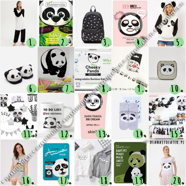 gadżety z pandą