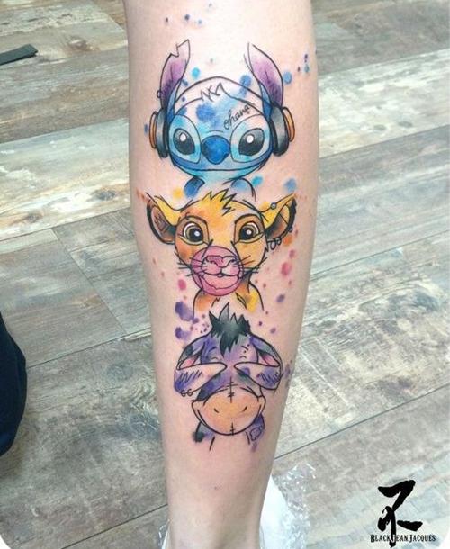 tatuaże z motywami z bajek