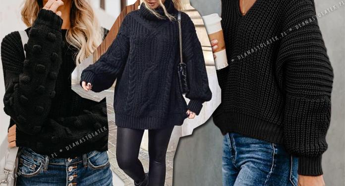 stylówki z czarnym swetrem