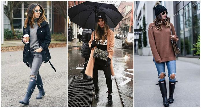 stylizacje na deszczową pogodę