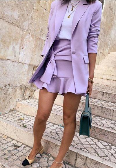 Wiosenne stylówki w kolorze lilaróż