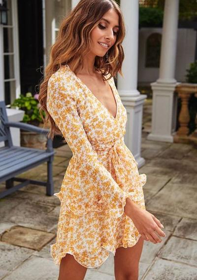 stylizacje z sukienką w kwiaty