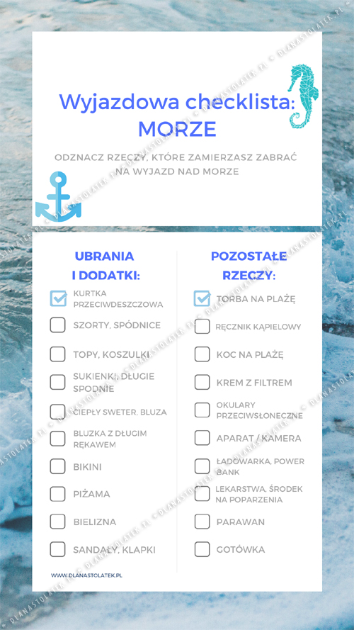 wyjazdowa checklista
