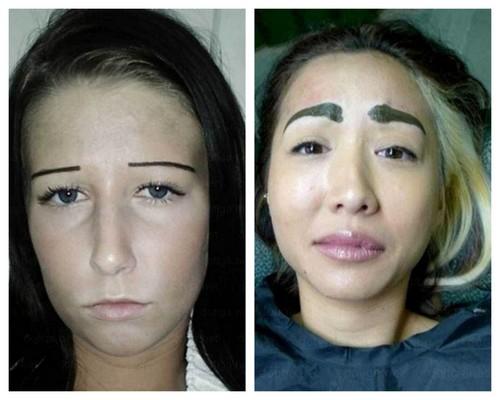 błędy popełniane podczas makijażu brwi