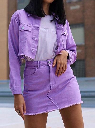 stylizacje z liliowym kolorem
