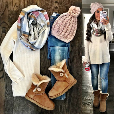 ciepłe zimowe stylizacje
