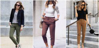 stylizacje ze spodniami chino