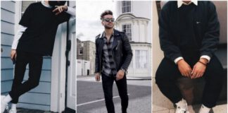 All black outfity dla chłopaków