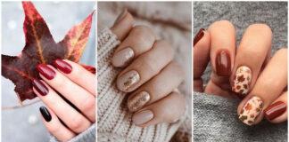 pomysły na jesienny manicure w 2021 roku